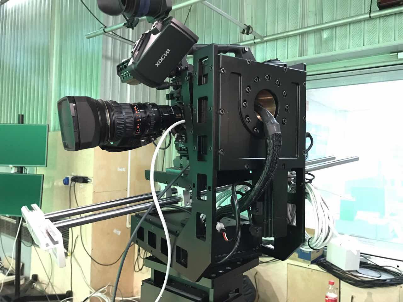 """Специалисты ITDILAB разработали съемочной комплекс на роботизированная тележке для студии """" Россия 24"""". Данный комплекс позволяет вести эфиры максимального качества с возможностью управления камерой по вертикали и горизонтали"""